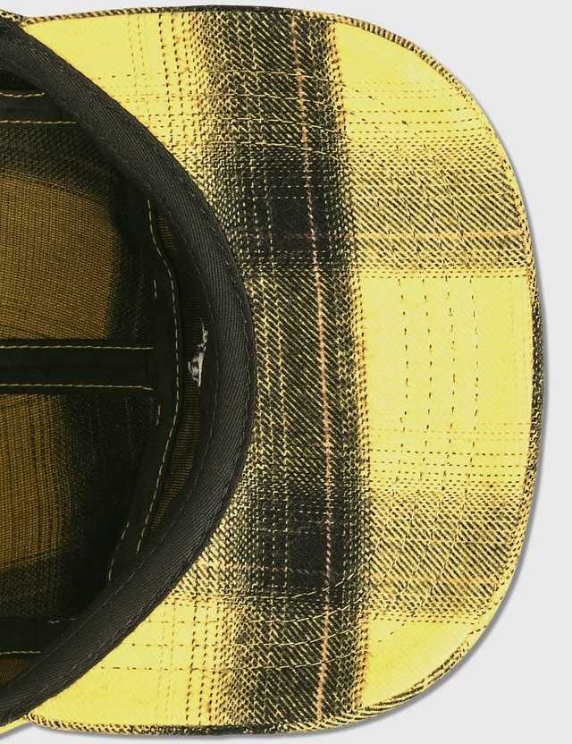 Marcelo Burlon Check Flannel Five Panel Cap Yellow Men