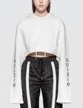 Danielle Guizio Guizio Oversized Hooded Crop Sweatshirt Picutre