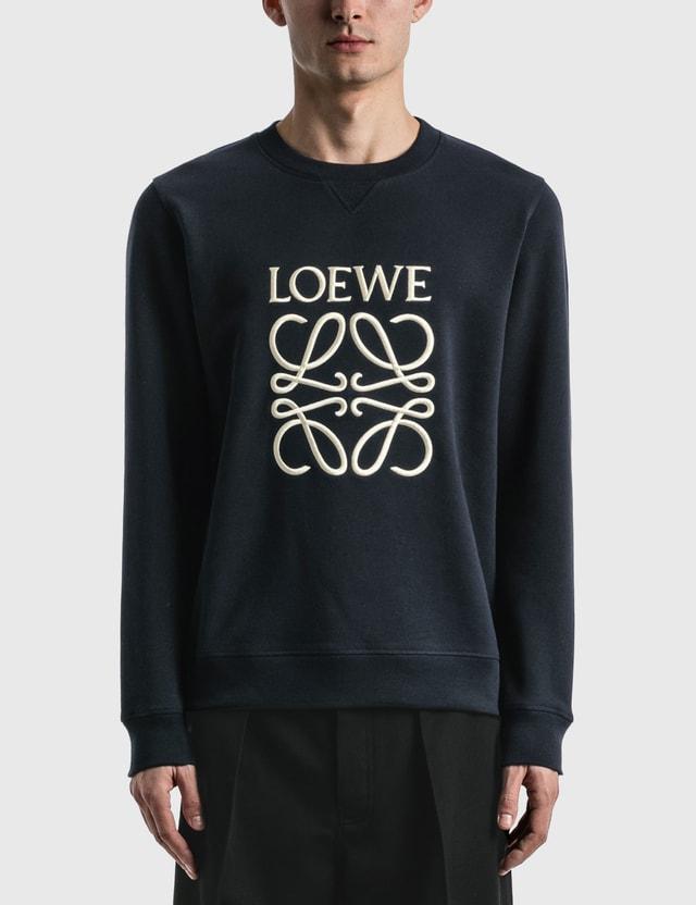 Loewe Anagram Sweatshirt Navy Blue Men