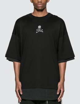 Mastermind World Mesh Layered Logo Oversized T-Shirt