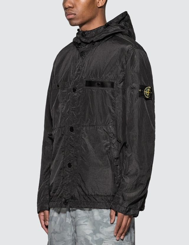 Stone Island Seersucker-TC Hooded Jacket