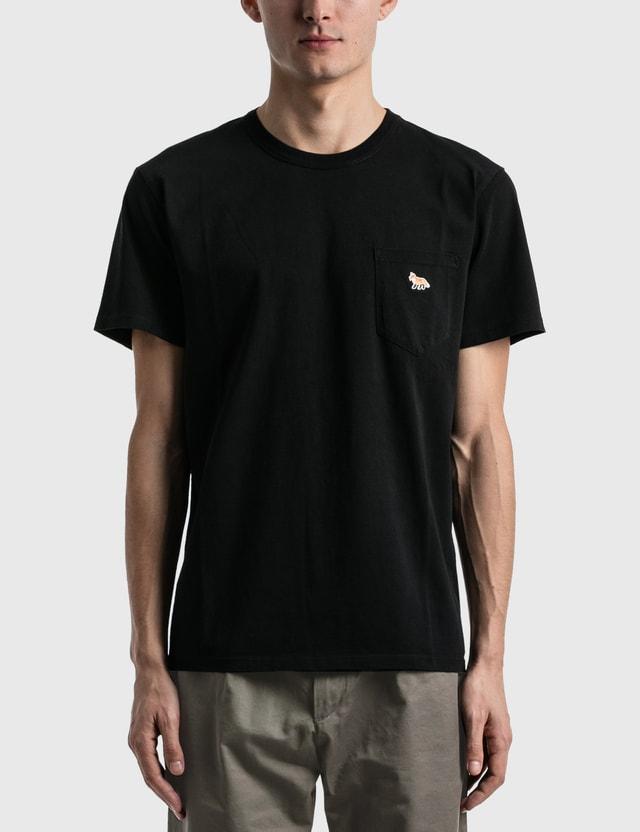 Maison Kitsune Profile Fox Patch Pocket T-shirt Black Men