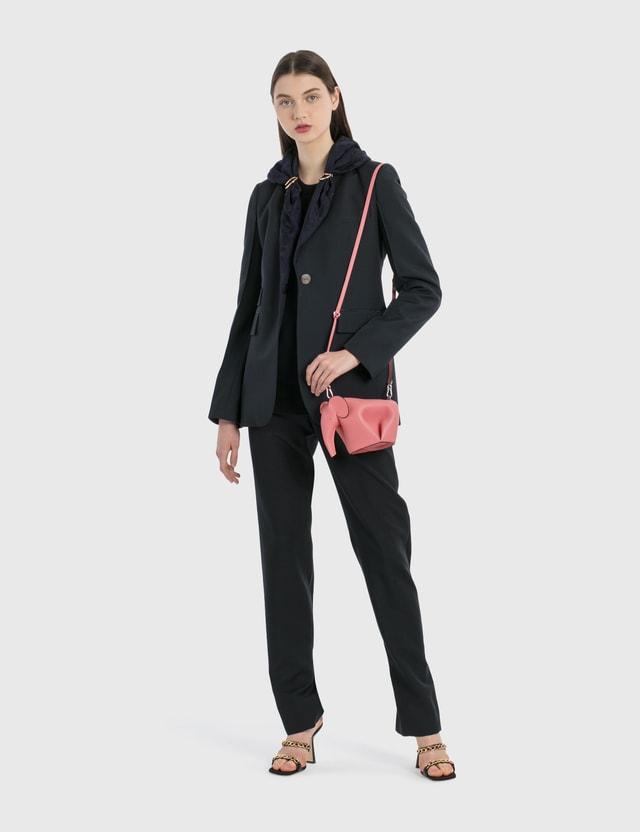 Loewe Jacquard Shawl Jacket Navy Blue Women
