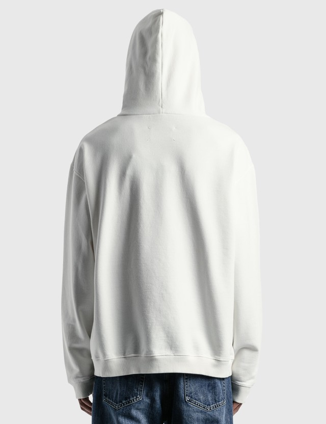 Maison Margiela Numbers Logo Embroidered Hoodie Off White Men