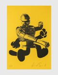 """Kostas Seremetis """"The All Mighty"""" KS050 Limited Edition Print on Yellow Paper Picutre"""