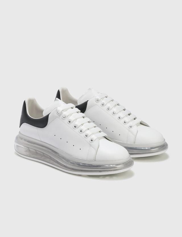 Alexander McQueen Oversized Sneaker With Transparent Sole White/black/white Men