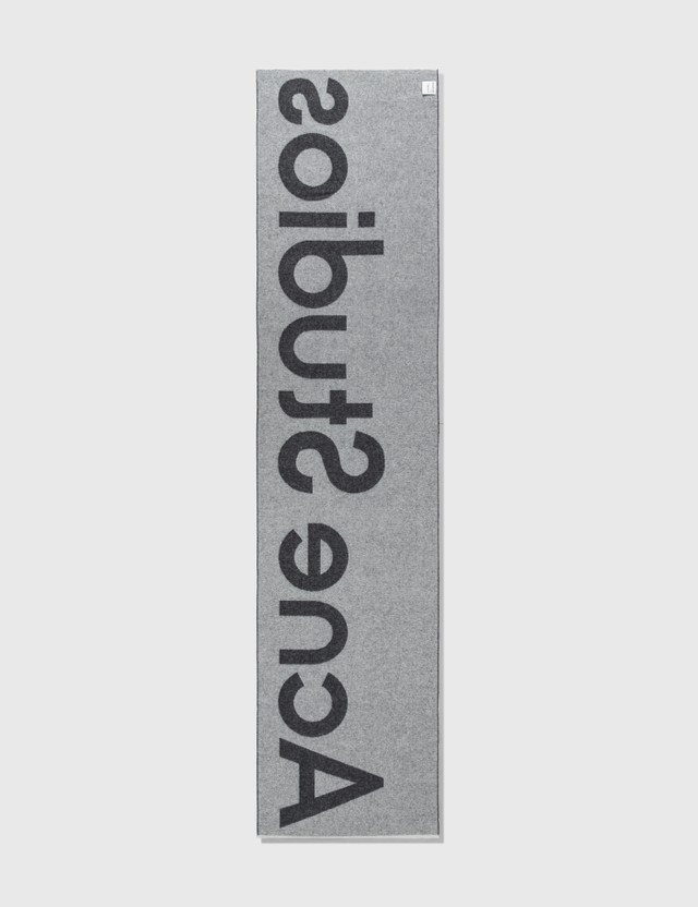 Acne Studios Toronty Logo Scarf Black Men