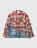 GREG LAUREN Greg Lauren Patch Denim Shirt Picutre