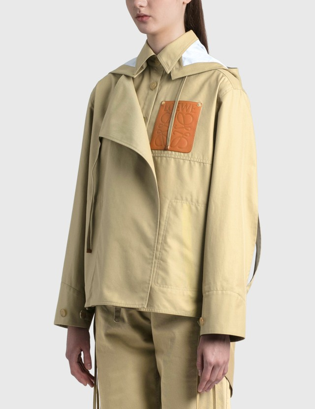 Loewe Military Hooded Parka Sweet Caramel Women