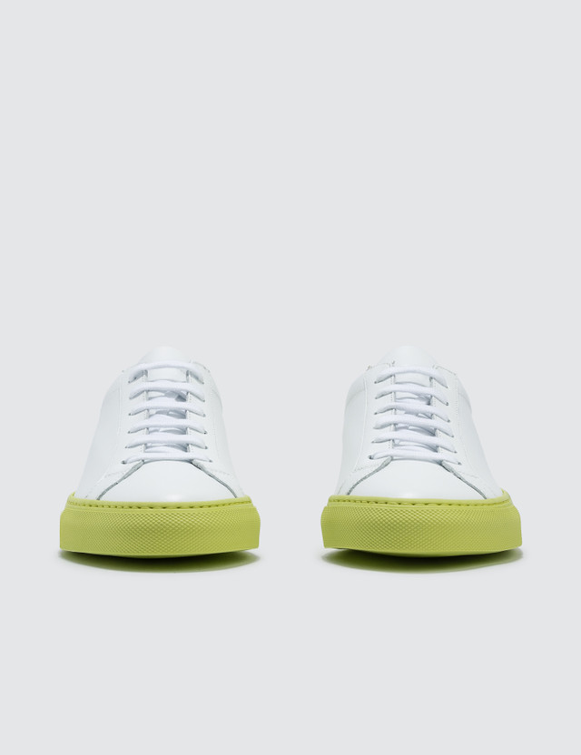 Common Projects Achilles Low Trainers With Colored Sole