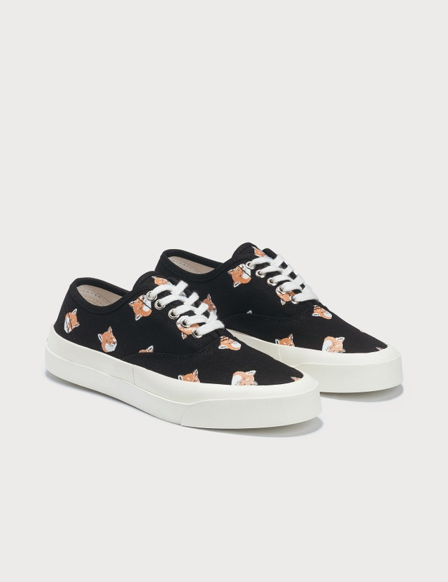 Maison Kitsune All Over Fox Head Laced Sneaker