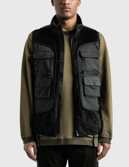 White Mountaineering Fleece Luggage Pocket Vest