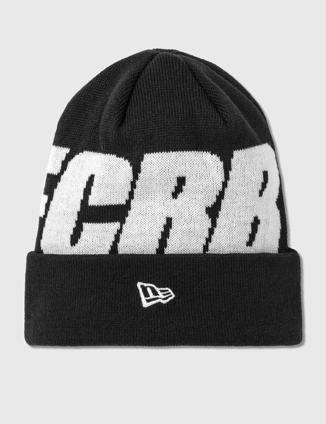 F.C. Real Bristol New Era FCRB Big Logo Cuff Knit Beanie Black Men
