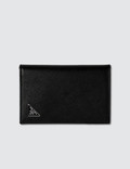 Prada Fold Logo Credit Card Holder Picutre