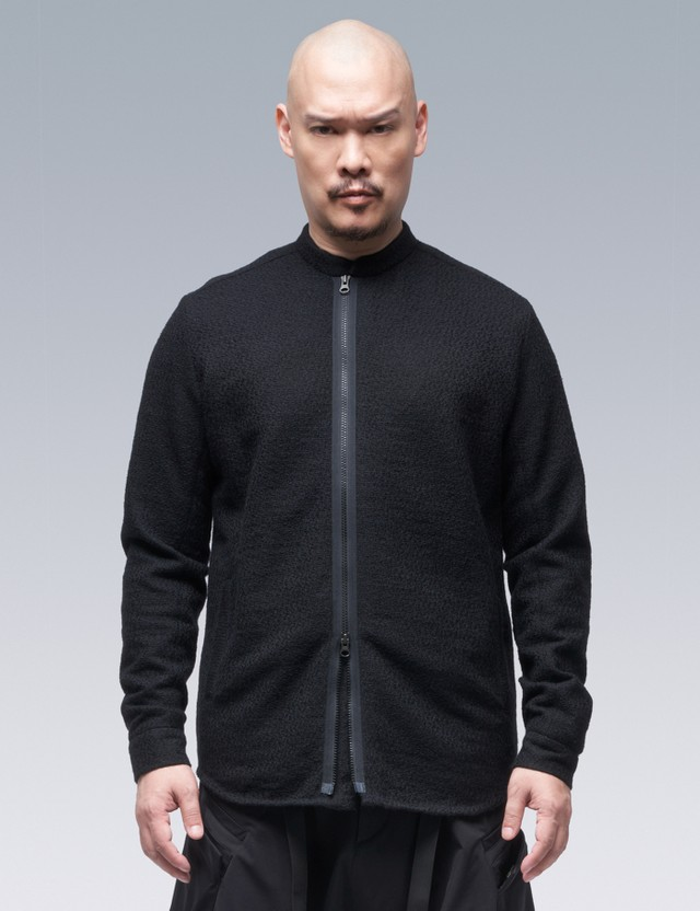 ACRONYM Cashllama Long Sleeve Zip Shirt Jacket Black Men