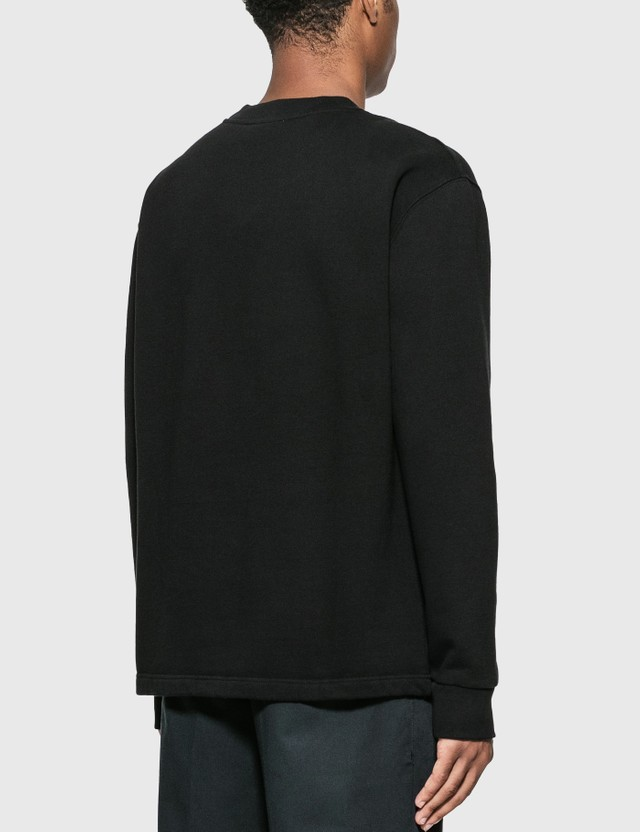 Maison Kitsune Big Eye Flower Embroidery Sweatshirt Black Men