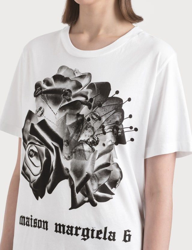 MM6 Maison Margiela Rose Print T-Shirt