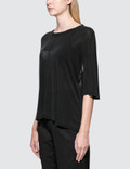 Unravel Project Lines Reverse V Cut T-Shirt Black Women