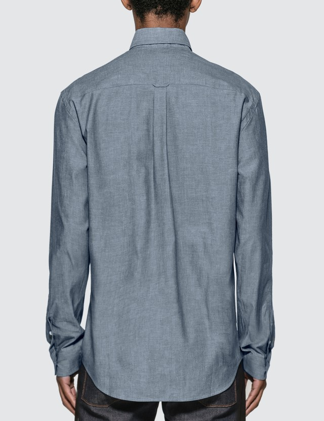 Maison Kitsune Fox Head Embroidery Oxford Shirt