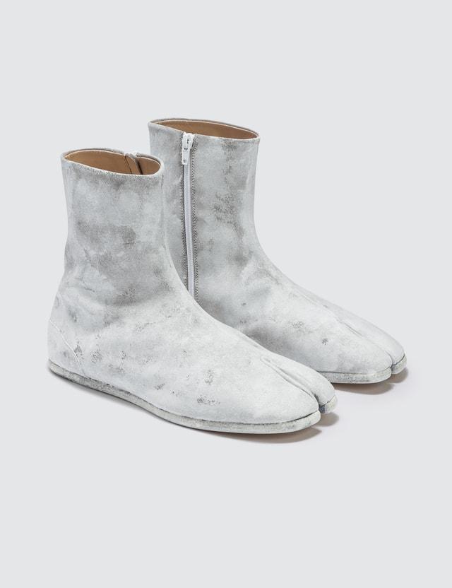 Maison Margiela Tabi Ankle Flat Boots - White Icons