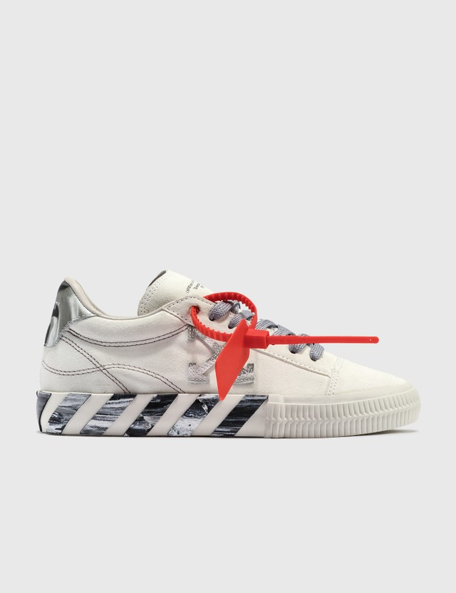 Off-White Liquid Melt Low Vulcanized Sneaker WhiteGrey Women