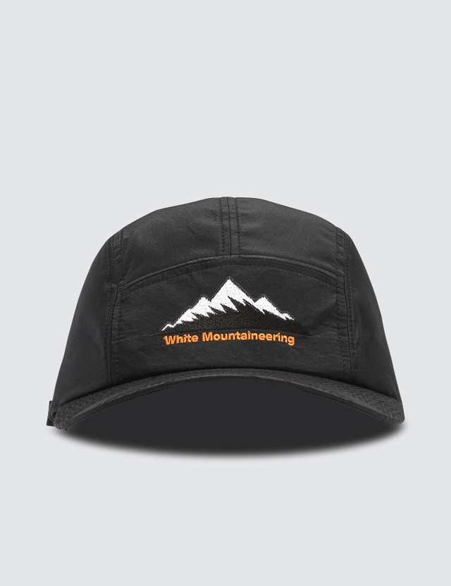 White Mountaineering Mountain Logo Embroidered Jet Cap