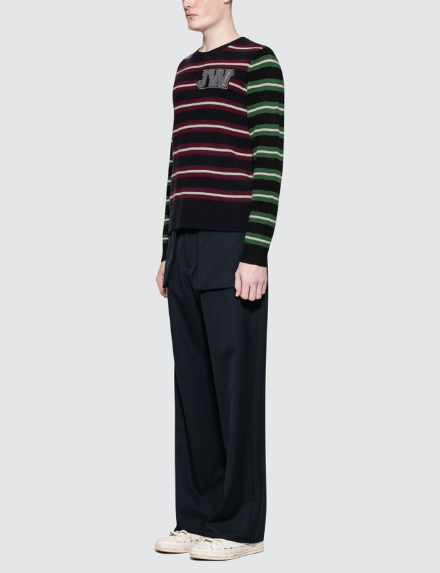 JW Anderson Logo Patch Stripe Jumper