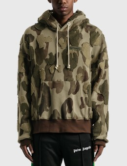 Palm Angels Camo Embroidered Hoodie