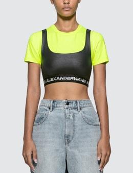 Alexander Wang.T Wash & Go Satin Jersey T-shirt