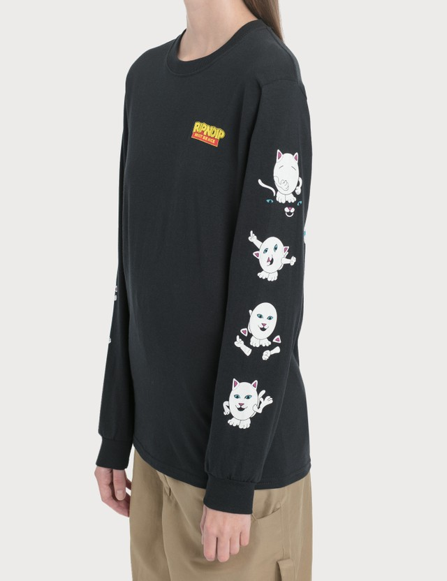 RIPNDIP Nerm Story Long Sleeve T-Shirt Black Women