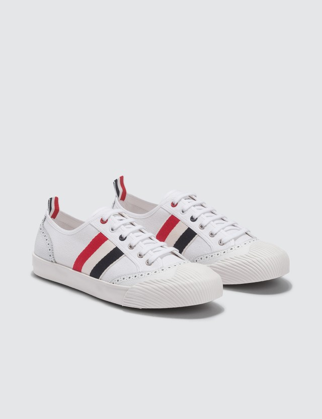 Thom Browne Brogued Canvas Trainer