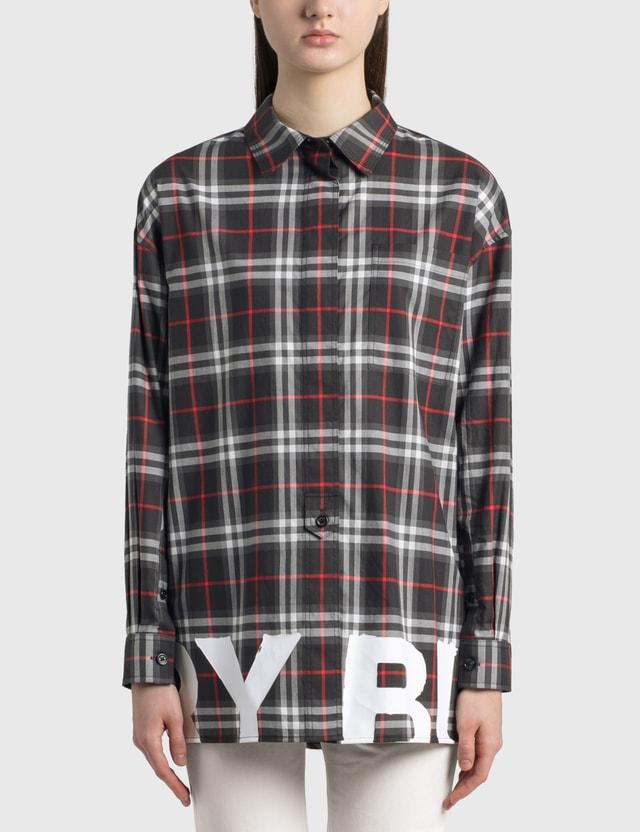 Burberry Brigitte Shirt Black Ip Chk Women