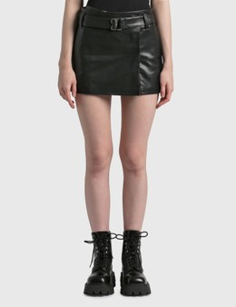 Misbhv Vegan Leather Mini Skirt