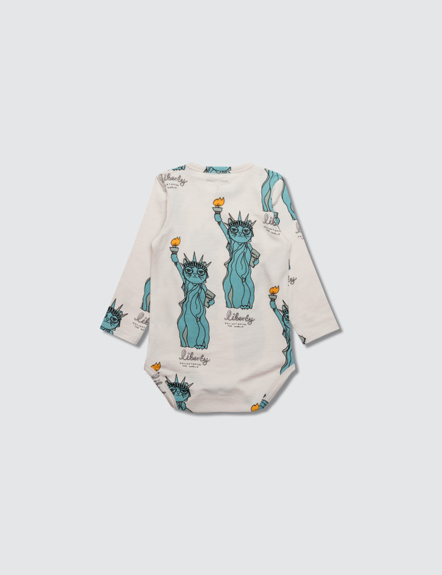 Mini Rodini Liberty Aop Long Sleeve Body