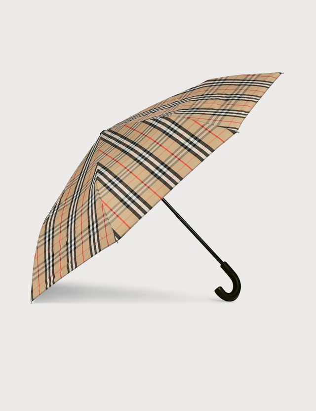 Burberry Vintage Check Folding Umbrella Archive Beige Unisex