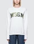 MSGM Tie-Dye Logo College Sweatshirt Picture