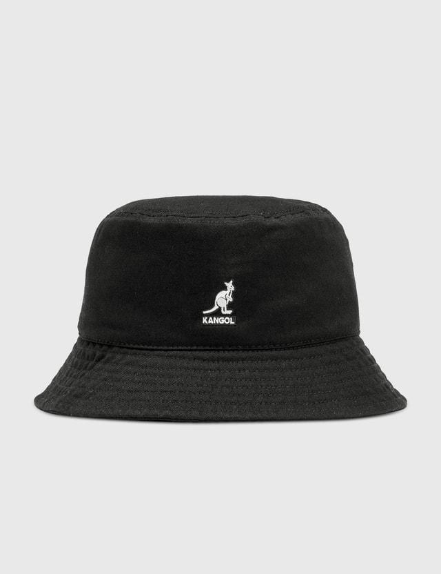 Kangol Washed Bucket Hat Black Men