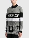 Versace Logo Long Sleeve Polo