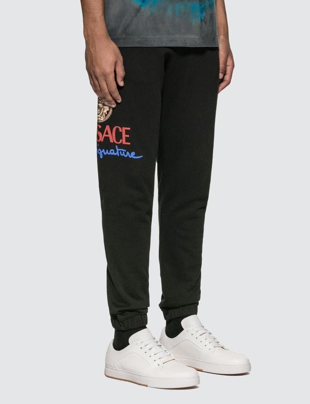 Versace Home Signature Logo Track Pants Lavagna Men