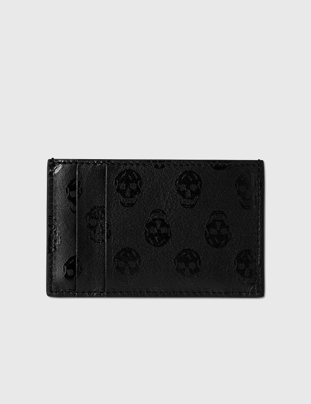 Alexander McQueen Skull Monogram Card Holder Black Men