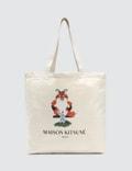 Maison Kitsune Tote Bag Fox Pixel Picture