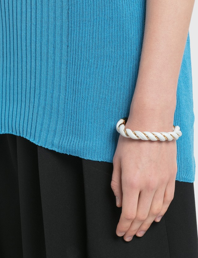 Bottega Veneta Twist Bracelet White Women