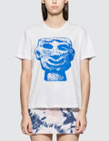 Ashley Williams Blue Stone Head Short Sleeve T-shirt Picutre