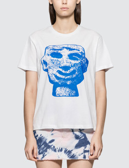Ashley Williams Blue Stone Head Short Sleeve T-shirt