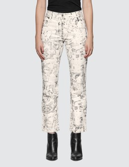 Off-White All Over Graphic Cropped Pants