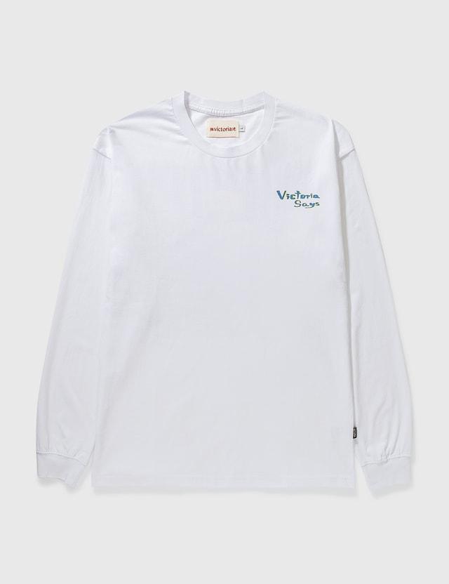 Victoria Lou Long Sleeve T-shirt White Men
