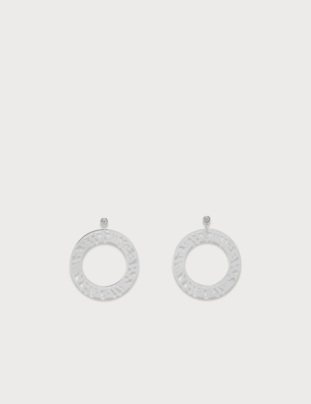Misbhv Classic Logo Circle Earrings