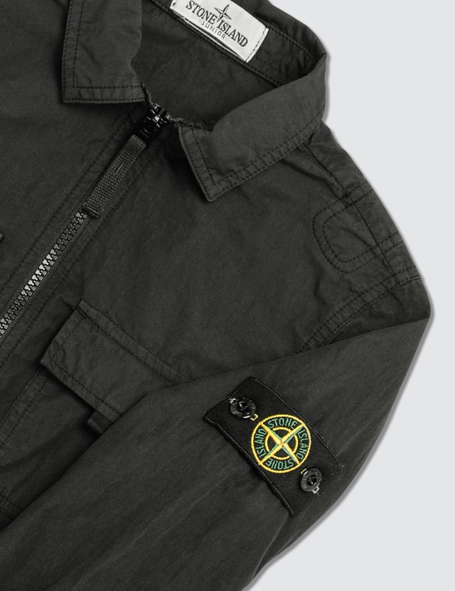 Stone Island Compass Logo Patch Shirt (Kids) Black Kids