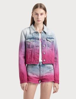 Off-White Degrade Cropped Denim Jacket