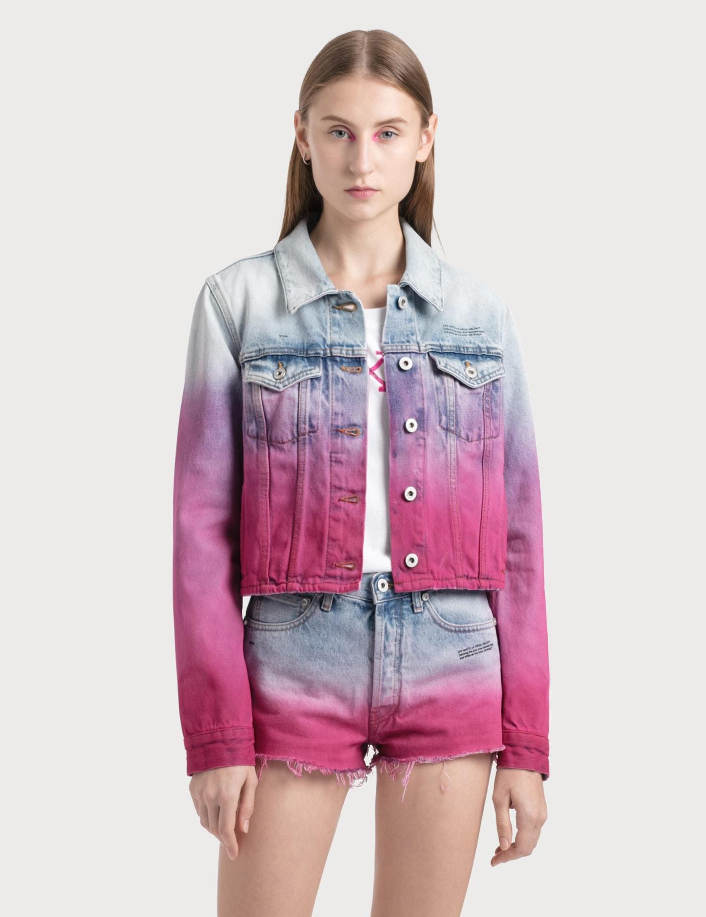 Degrade Cropped Denim Jacket